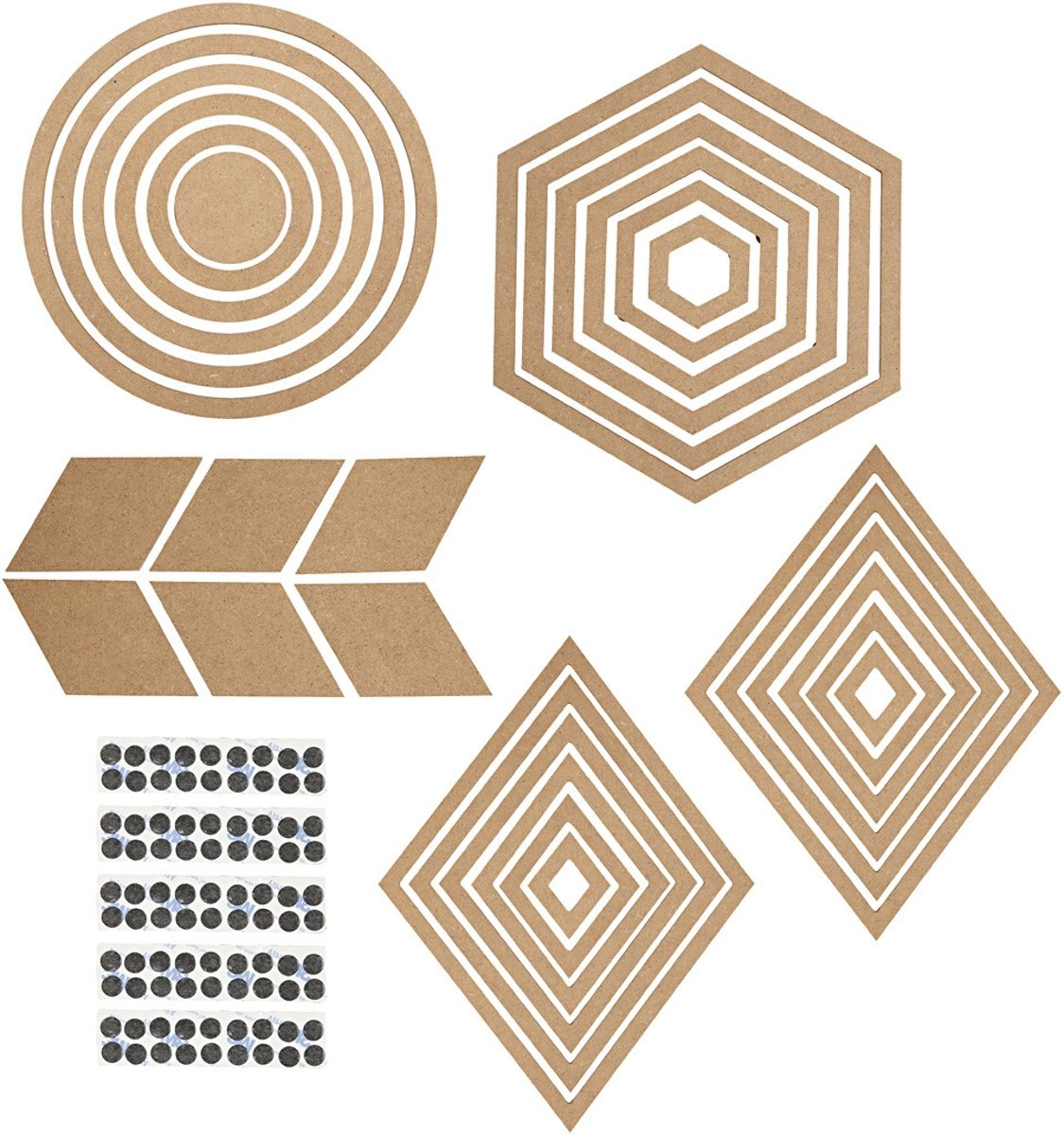 Muur decoraties, h: 5,5-29,5 cm, 10sets [HOB-56356]